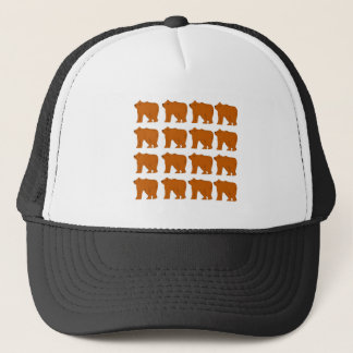 Teddies design on white trucker hat