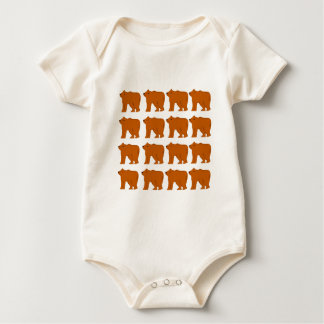 Teddies designs on white baby bodysuit