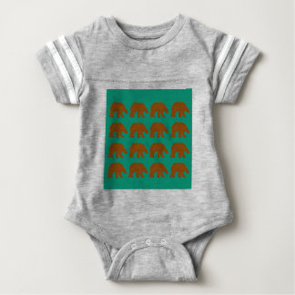Teddies on Mint edition Baby Bodysuit