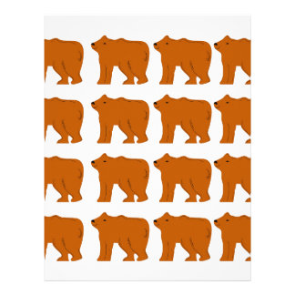 Teddies on white letterhead