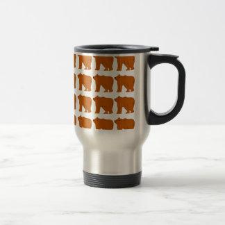 Teddies on white travel mug