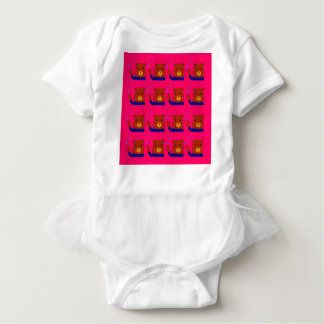 Teddies pink design baby bodysuit