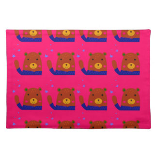 Teddies pink design placemat