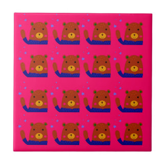 Teddies pink design tile