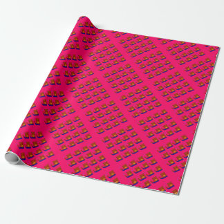 Teddies pink design wrapping paper