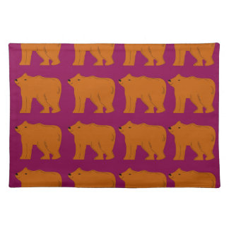 Teddies polar on pink placemat