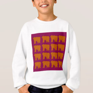 Teddies polar on pink sweatshirt