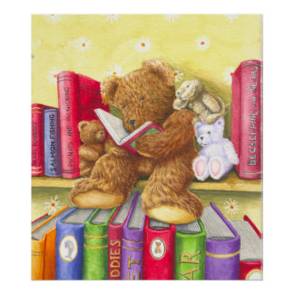Teddies Story Time Poster