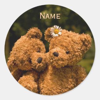Teddy 01 round sticker