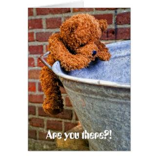 Teddy 05 greeting card