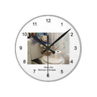 Teddy Bathroom Clock