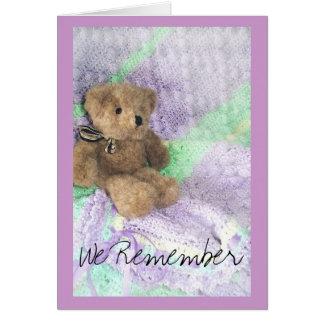 teddy bear aftercare card