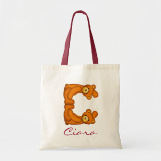 Teddy Bear Alphabet Letter~C~Initial Monogram Bag