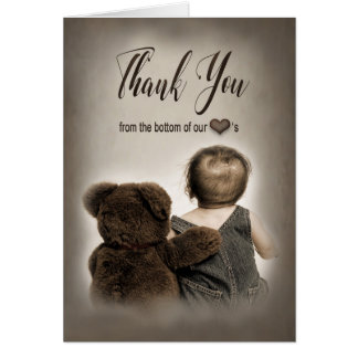 Teddy Bear and Baby  THANK YOU note cards