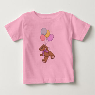 Teddy Bear and Balloons Baby T-Shirt