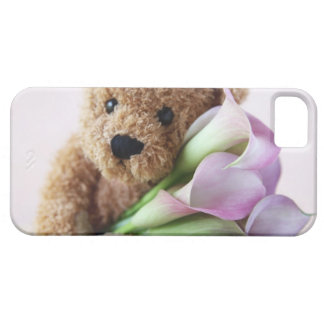 teddy bear and calla lilies iPhone 5 barely there iPhone 5 Cover
