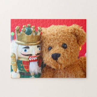 Teddy bear and nutcracker jigsaw puzzle