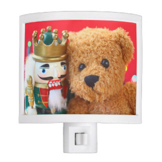 Teddy bear and nutcracker nite lite