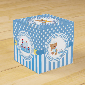 Teddy Bear and Tugboat Baby Shower Favor Box