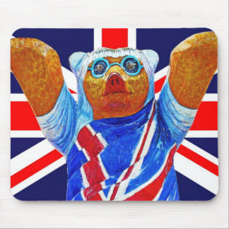 Teddy Bear and Union Jack (UK) Flag Mouse Pad