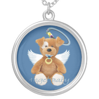 Teddy Bear Angel Baby Necklace