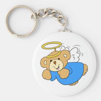 Teddy Bear Angel Keychain