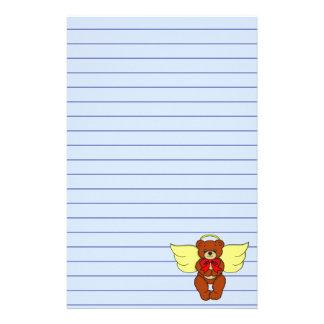 Teddy Bear Angel Stationery