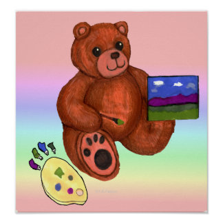 Teddy Bear Artist Print