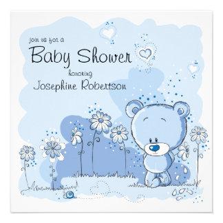 Teddy Bear Baby Shower Invitation - Blue