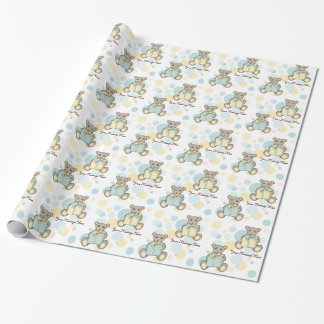 Teddy Bear Baby Shower or Kids Birthday Template Wrapping Paper