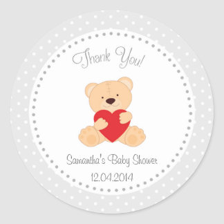 Teddy Bear Baby Shower Sticker