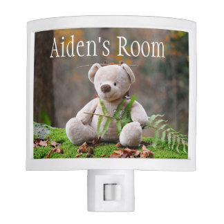 Teddy Bear Baby's Room Night Light Personalized