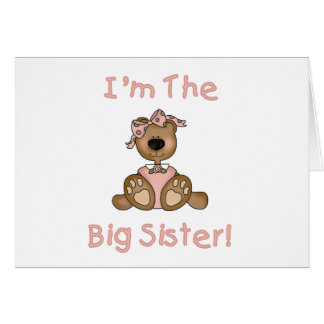 Teddy Bear Big Sister Tshirts and Gifts Card