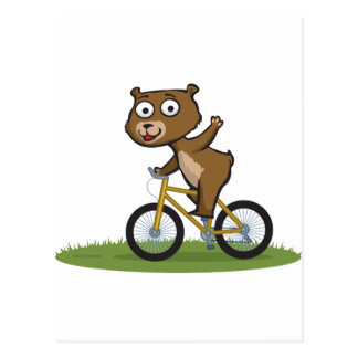 Teddy Bear Biker Postcard