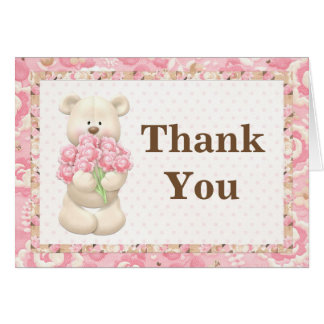 Teddy Bear Birthday Party Thank You Card