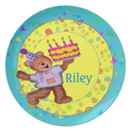 Teddy Bear Birthday Plate