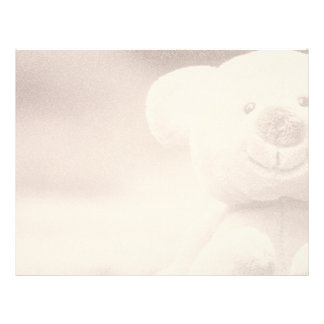 Teddy Bear Blank Scrapbook Background Paper