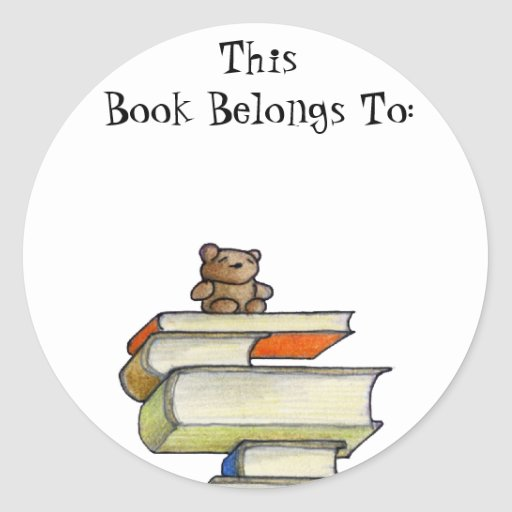 Teddy Bear Books Book Sticker