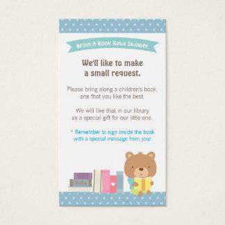 Teddy Bear Boy Book Baby Shower Book Request Business Card