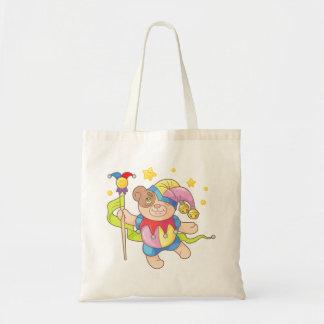Teddy bear, buffoon tote bag