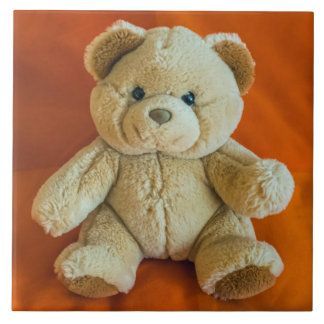Teddy bear ceramic photo tile