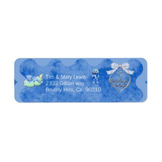 Teddy Bear Charm Boy Blue Baby Shower