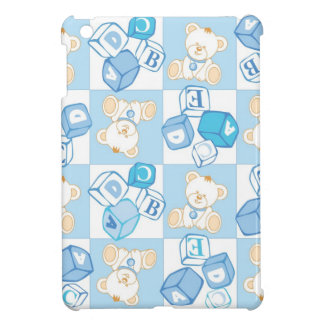 Teddy bear checked pattern cover for the iPad mini