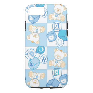 Teddy bear checked pattern iPhone 7 case