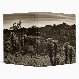 Teddy Bear Cholla Cactus Desert Plant 3 Ring Binder