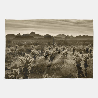 Teddy Bear Cholla Cactus Desert Plant Kitchen Towel