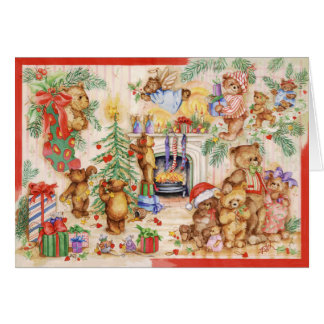 TEDDY BEAR CHRISTMAS CARD