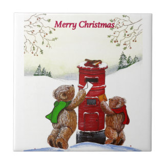 Teddy Bear Christmas Card Tiles