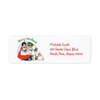 Teddy Bear Christmas Return Address Label
