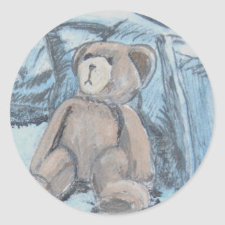 Teddy bear classic round sticker
